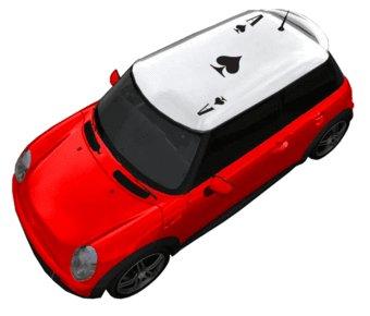 Autocollant de toit as et piques
