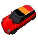 Autocollant de toit Belgique drapeau
