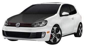 Motorkapsticker Carbon