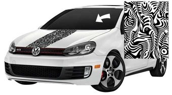 motorkap striping zebra