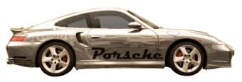Porsche name with car