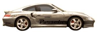Porsche stripe & nom avec fade