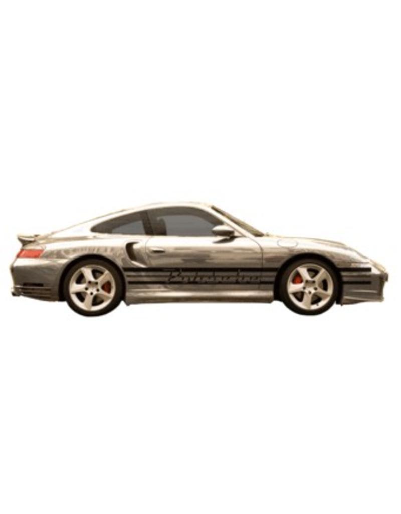 Porsche naam & stripes dubbel