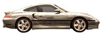 Porsche name & stripes dubble