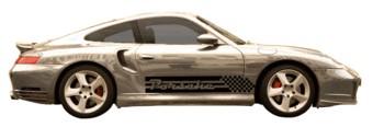 Porsche blocks & stripes & naam