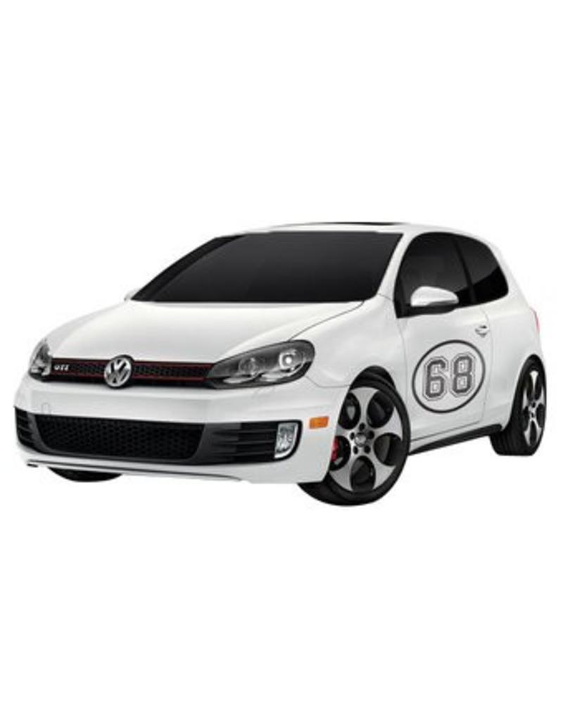 Autocollant voiture numéro de rallye 2 (deux autocollants)