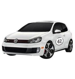 Autocollant voiture numéro de rallye 4 (deux autocollants)