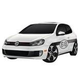 Autocollant voiture numéro de rallye 5 (deux autocollants)