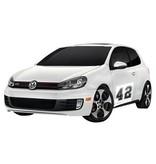 Pegatina coche número rally 8 (juego de 2)