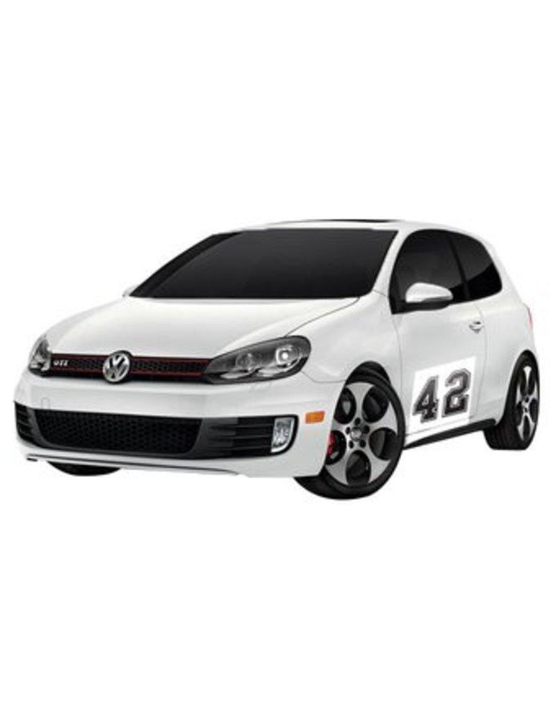 Autocollant voiture Rallye numéro 8 (lot de 2 autocollants)