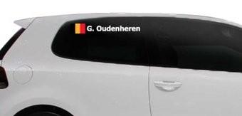 Rally-Flagge mit Name Belgien