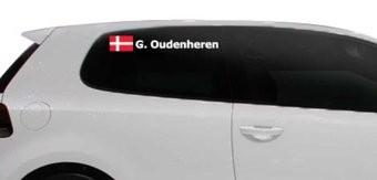 Rallyvlag met naam Denemarken