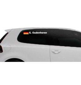 Rallye drapeau avec le nom Allemagne