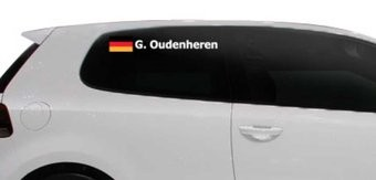 Rally-Flagge mit Name Deutschland