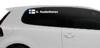 Rally-Flagge mit Name Finnland