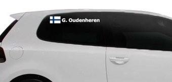 Rallye drapeau avec le nom Finlande