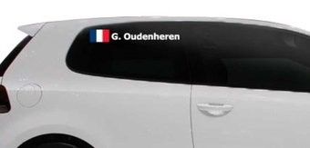 Rally-Flagge mit Name Frankreich