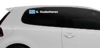 Rallye drapeau avec le nom Grèce