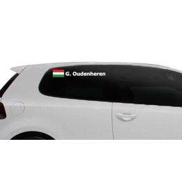 Rallye drapeau avec le nom Hongrie