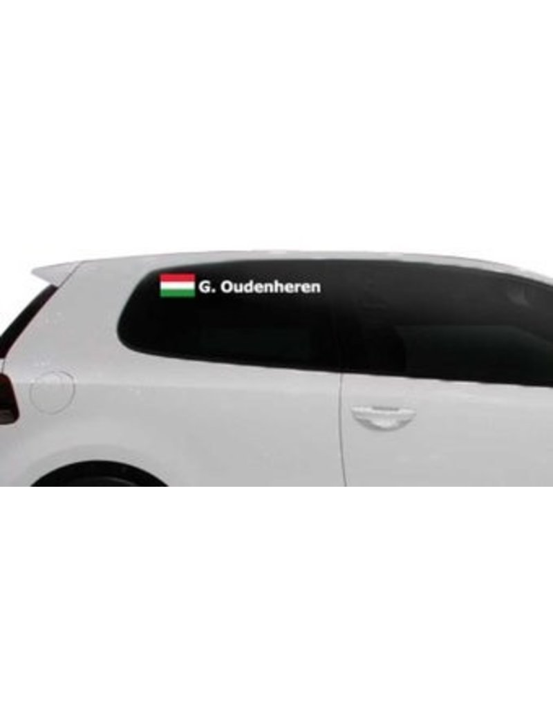 Rallyvlag met naam Hongarije