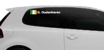 Rallyvlag met naam Ierland
