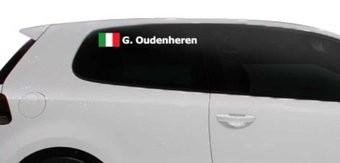 Rallye drapeau avec le nom Italie