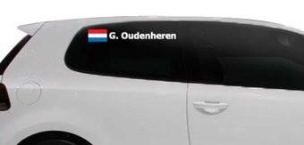 Rallye drapeau avec le nom Pays-Bas