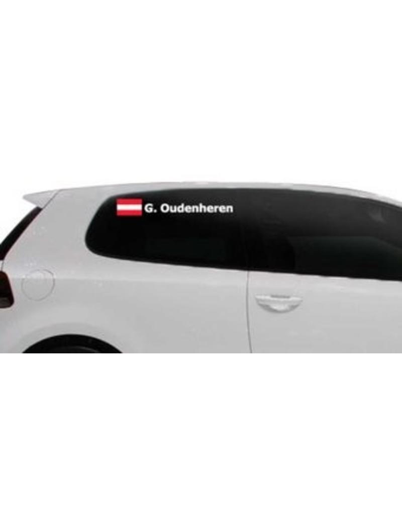 Rallye drapeau avec le nom Autriche