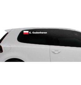 Rallye drapeau avec le nom Pologne