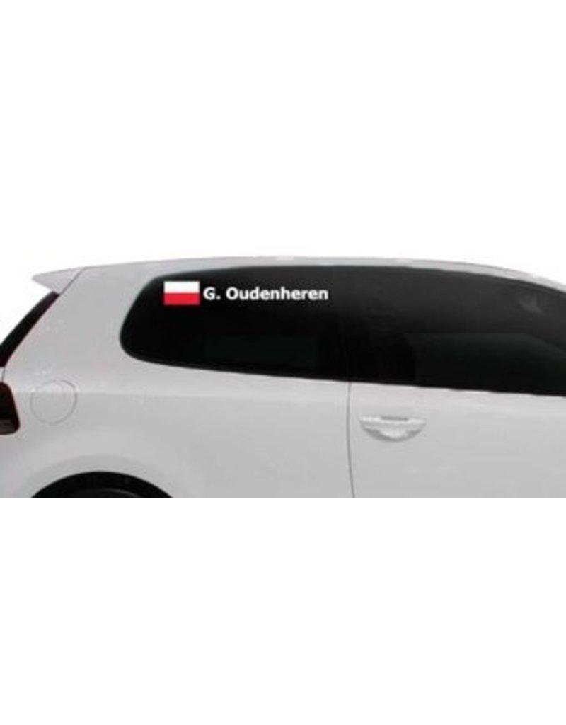 Rallyvlag met naam Polen