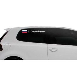 Rally-Flagge mit Name Russland