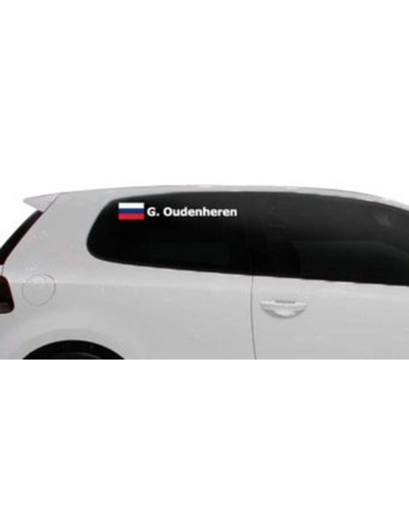 Rally Flag with name Russia