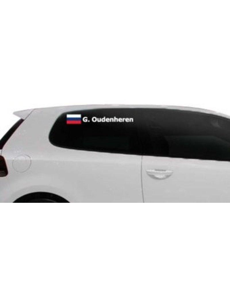 Rallye drapeau avec le nom Russie