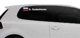 Rallyvlag met naam Rusland