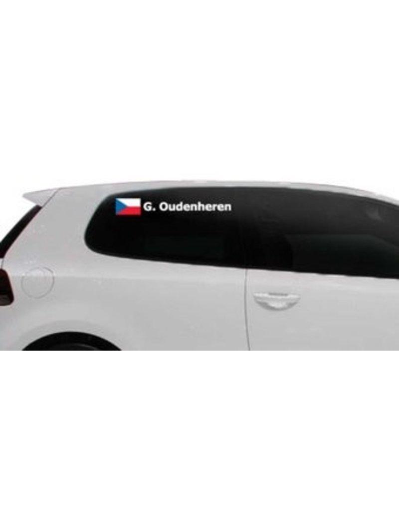 Rallye drapeau avec le nom République tchèque