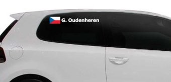Rally Flag with name Czech Republic