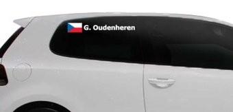 Rallyvlag met naam Tsjechie