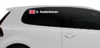 Rallye drapeau avec le nom Royaume-Uni