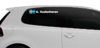 Rally-Flagge mit Name Schweden