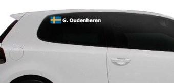 Rallyvlag met naam Zweden