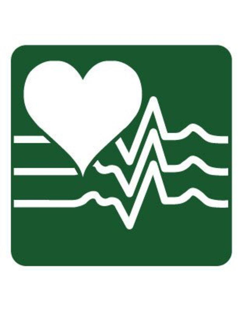 Monitor de ritmo cardiaco pegatina