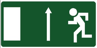Emergency Exit 5 sticker