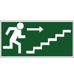 Escape route via stairs 3 sticker
