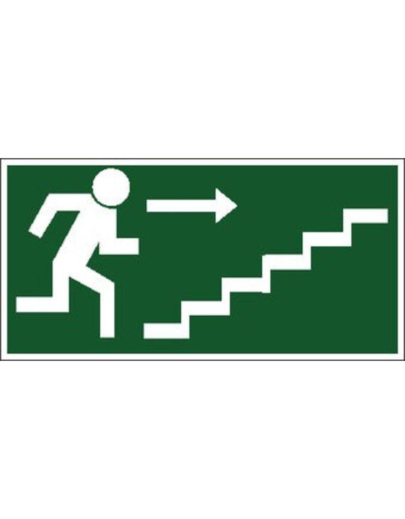 Sortie de secours avec escaliers 3 autocollant