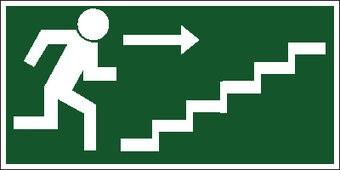 Fluchtweg durch Treppe3 Aufkleber