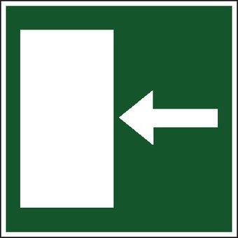 Vluchtweg links2 sticker