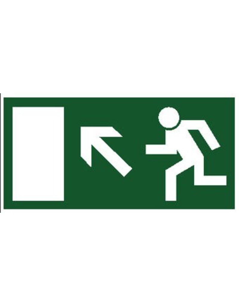 Sortie de secours avec escaliers 6 autocollant