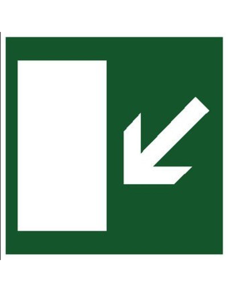 Escape route via stairs left sticker