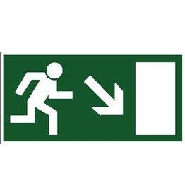 Escape route via stairs 8 sticker