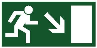 Sortie de secours avec escaliers 8 autocollant